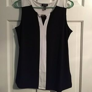 Black and White Tank Top Shell